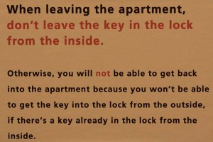 Don't forget the keys... Foto: Berlinow.com