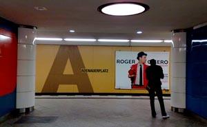 U-bahnhof Adenauerplatz, längs linjen U7 i Berlin. Foto: Berlinow.com