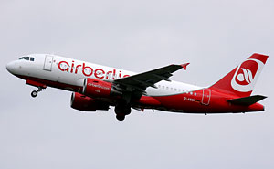 En Airbus A319 från Air Berlin. Foto: Dean Morley/Flickr (CC BY-ND 2.0)