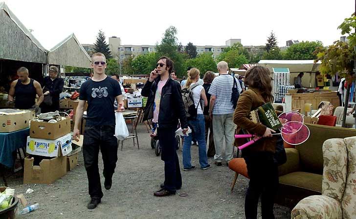Flohmarkt Mauerpark, Prenzlauer Berg, Berlin